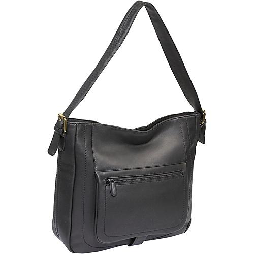 Derek Alexander Large Top Zip Shopper Bag - Black and
