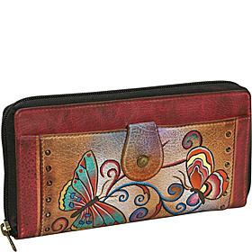 Ladies Clutch Wallet-Henna Butterfly Henna Butterfly