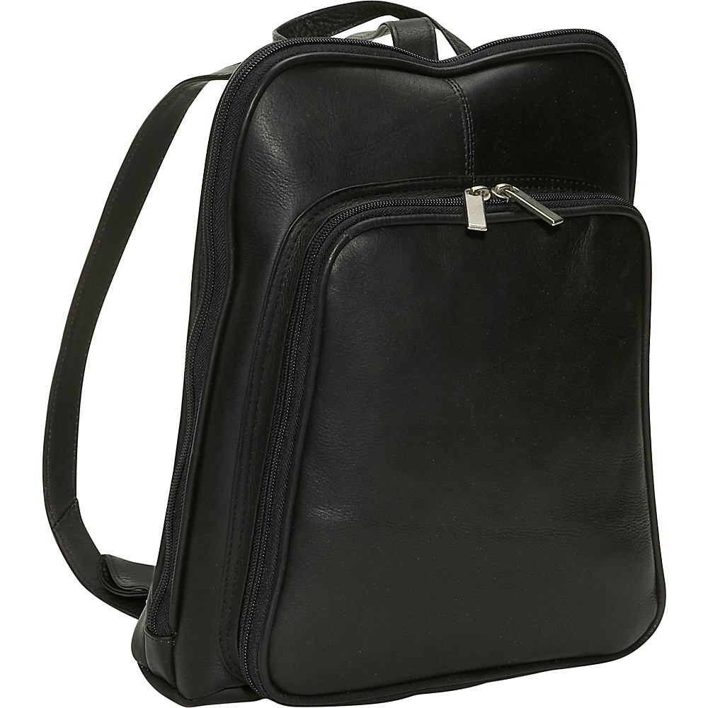 David King & Co. Women's Mid Size Backpack Black - David King & Co. Leather Handbags