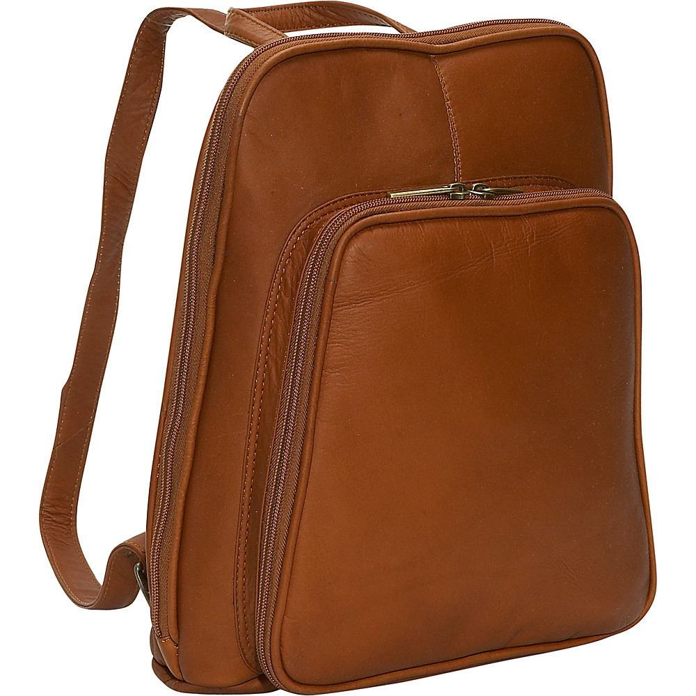 David King & Co. Women's Mid Size Backpack Tan - David King & Co. Leather Handbags