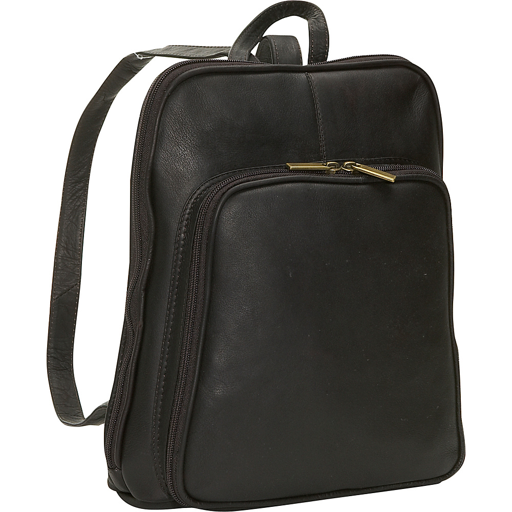 David King & Co. Women's Mid Size Backpack Cafe - David King & Co. Leather Handbags
