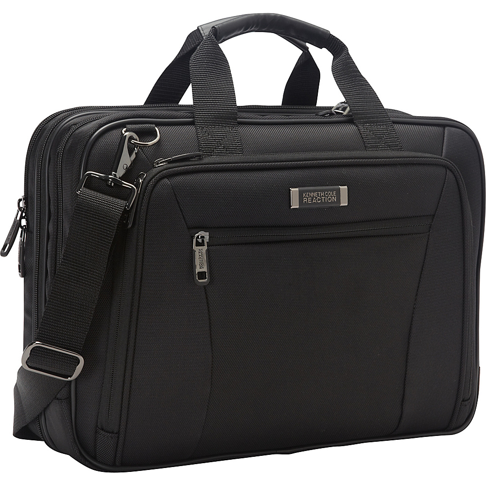 "Kenneth Cole Reaction Every Port Of Me - 16"" Checkpoint Friendly Laptop Bag- Exclusive Black - Kenneth Cole Reaction Non-Wheeled Business Cases"