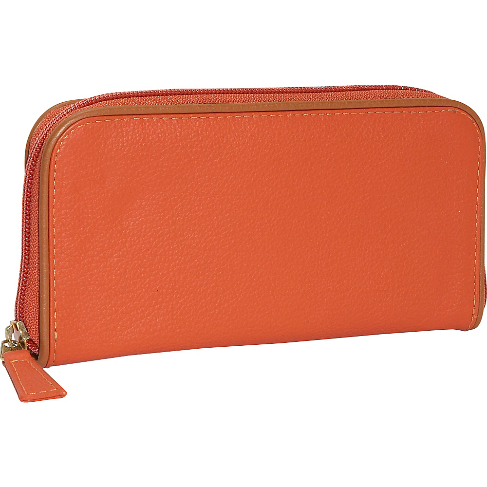 J. P. Ourse & Cie. Roomy Zip Clutch Wallet - Curry/Tan - Women's SLG, Women's Wallets