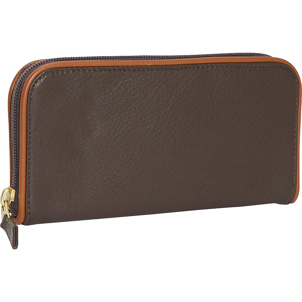 J. P. Ourse & Cie. Roomy Zip Clutch Wallet - Java/Tan - Women's SLG, Women's Wallets