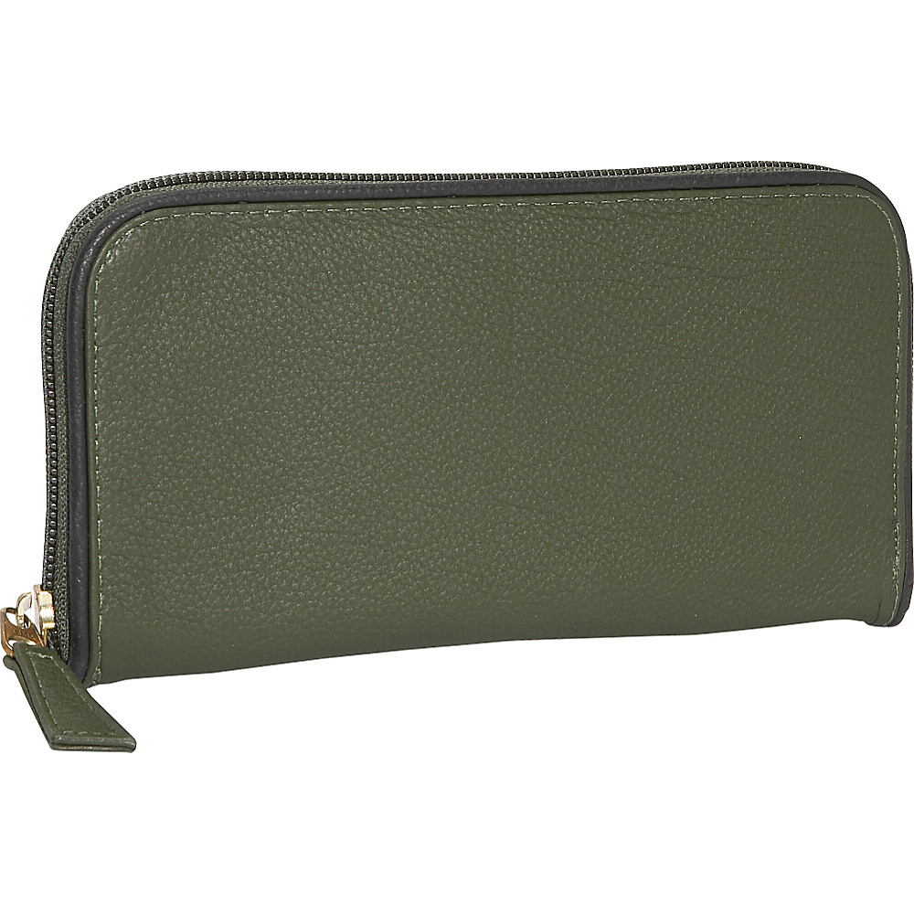 J. P. Ourse Cie. Roomy Zip Clutch Wallet
