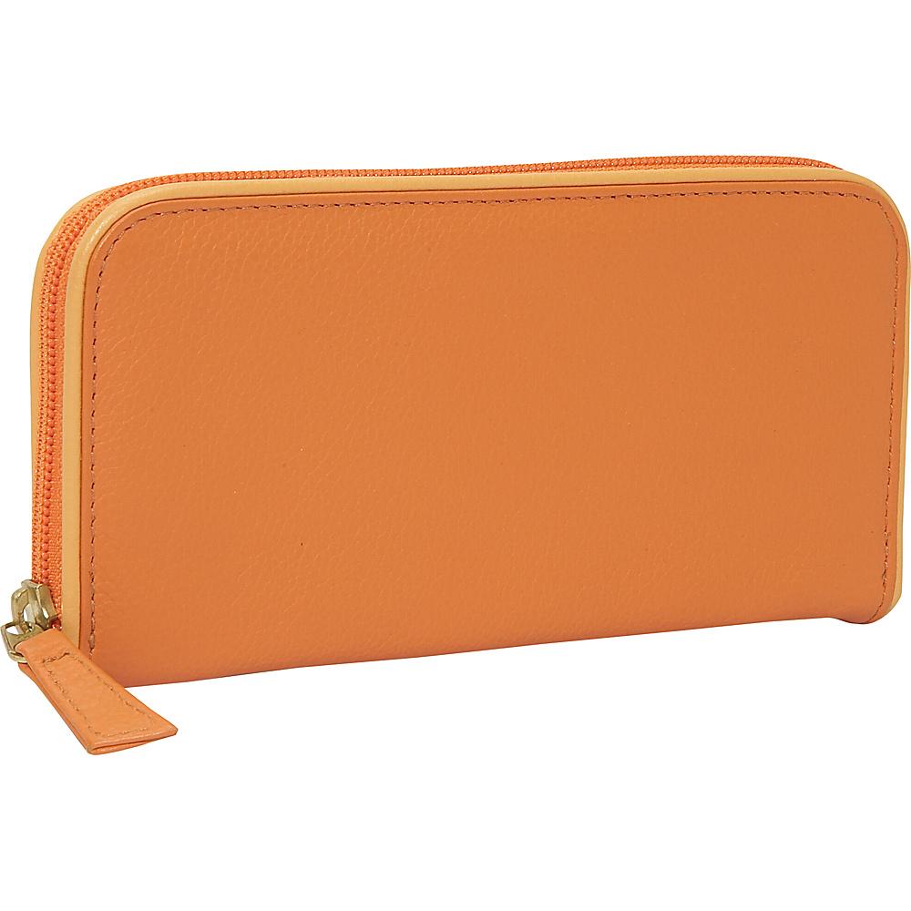 J. P. Ourse & Cie. Roomy Zip Clutch Wallet Tangerine/Butter - J. P. Ourse & Cie. Womens Wallets - Women's SLG, Women's Wallets