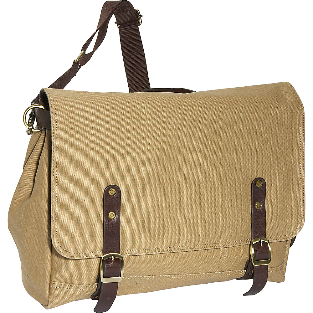 Clava Redford Collection Canvas Courier Bag Khaki