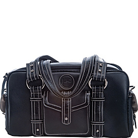 Small Leather Camera Bag Black