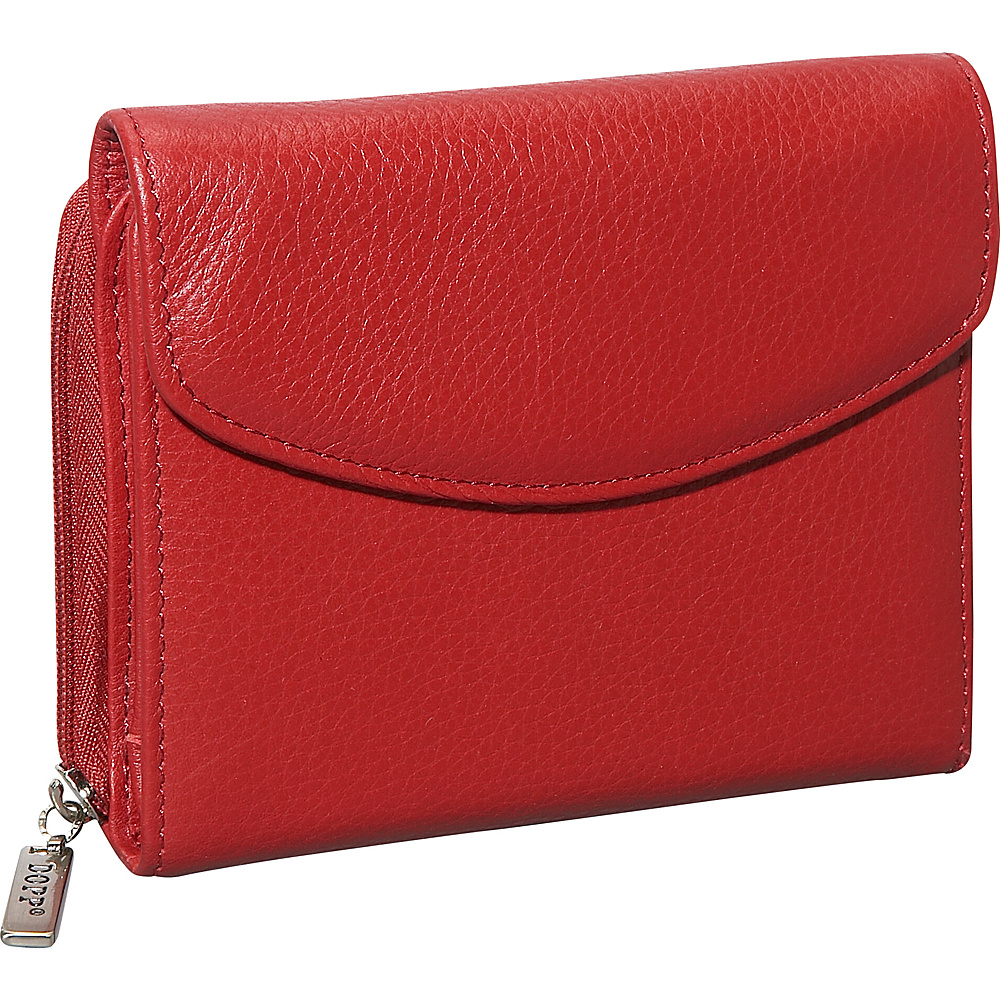 Dopp Roma Zip Double Cardex Dark Red Dopp Women s Wallets