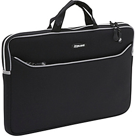 Neoprene Laptop Sleeve - 17.3'' PC Black w/Platinum Trim
