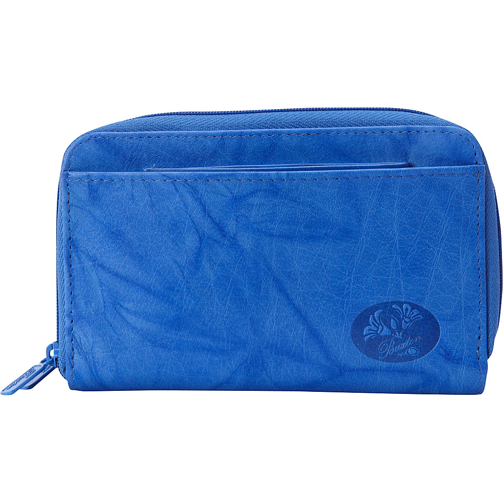Buxton Heiress Double Zip Indexer Strong Blue - Buxton Womens Wallets - Women's SLG, Women's Wallets