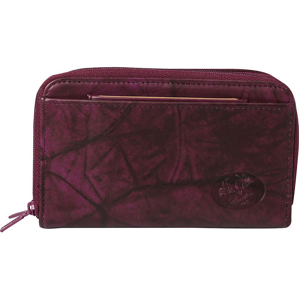Buxton Heiress Double Zip Indexer Magenta Purple - Buxton Womens Wallets - Women's SLG, Women's Wallets