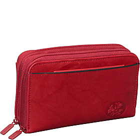 Heiress Double Zip Indexer Red