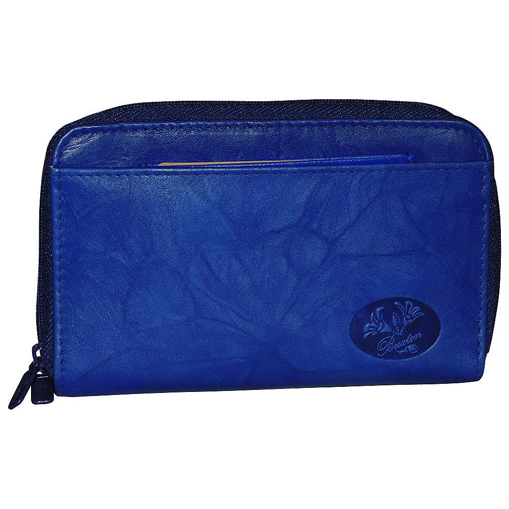 Buxton Heiress Double Zip Indexer Ultramarine Buxton Women s Wallets