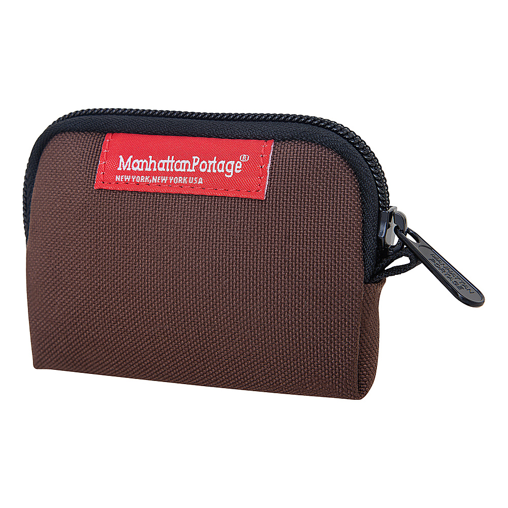 Manhattan Portage Coin Purse Dark Brown - Manhattan Portage Womens Wallets - Women's SLG, Women's Wallets
