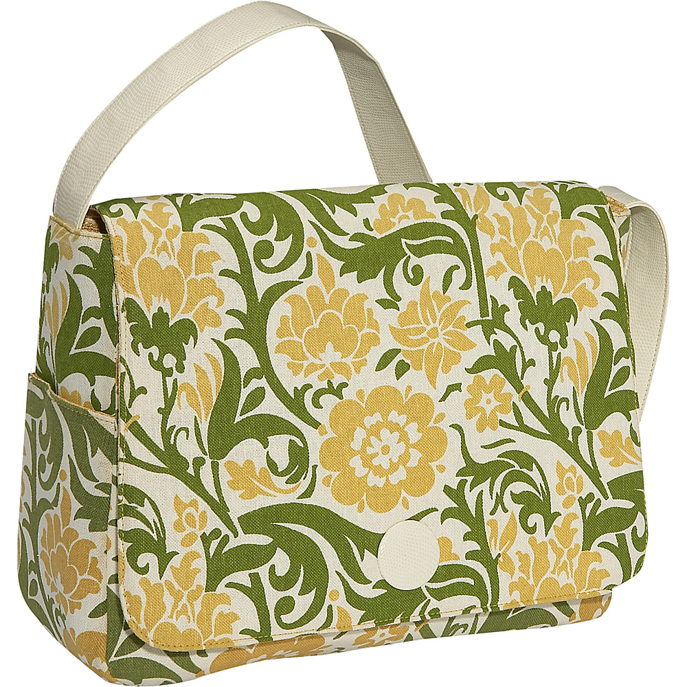 Soapbox Bags Moppet Diaper Bag Fabric Green Floral