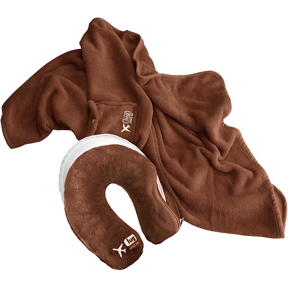 Lug Life Snuz Sac U Blanket Pillow Chocolate