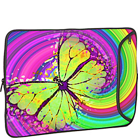 8.9'' -10'' iPad  / Netbook Designer Sleeve 60s Butterfly