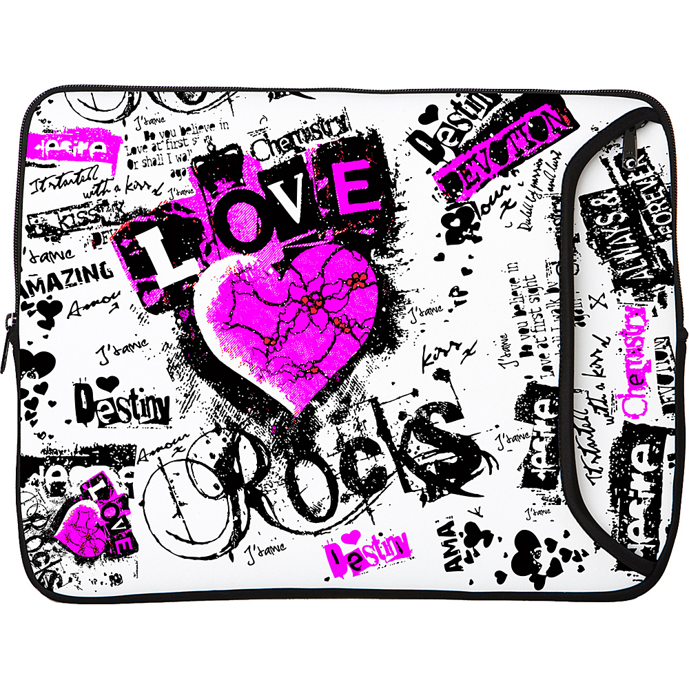 Designer Sleeves 8.9 10 iPad Netbook Designer Sleeve Love Rocks Designer Sleeves Electronic Cases