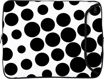 Designer Sleeves 8.9 inch -10 inch iPad  / Netbook Designer Sleeve Polka Dots: Black & White - Designer Sleeves Electronic Cases