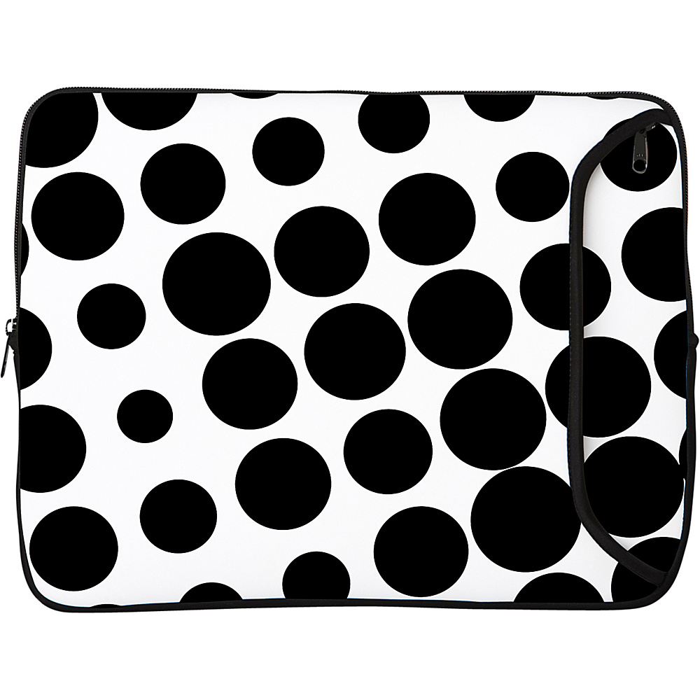 Designer Sleeves 8.9 10 iPad Netbook Designer Sleeve Polka Dots Black White Designer Sleeves Electronic Cases