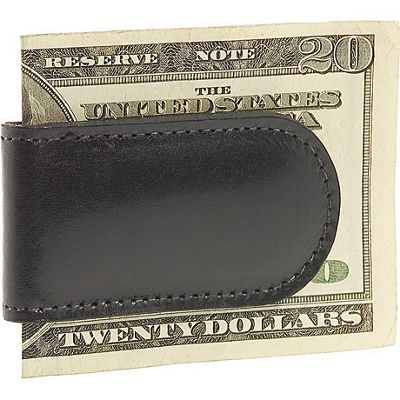 Bosca Old Leather Magnetic Money Clip - Black