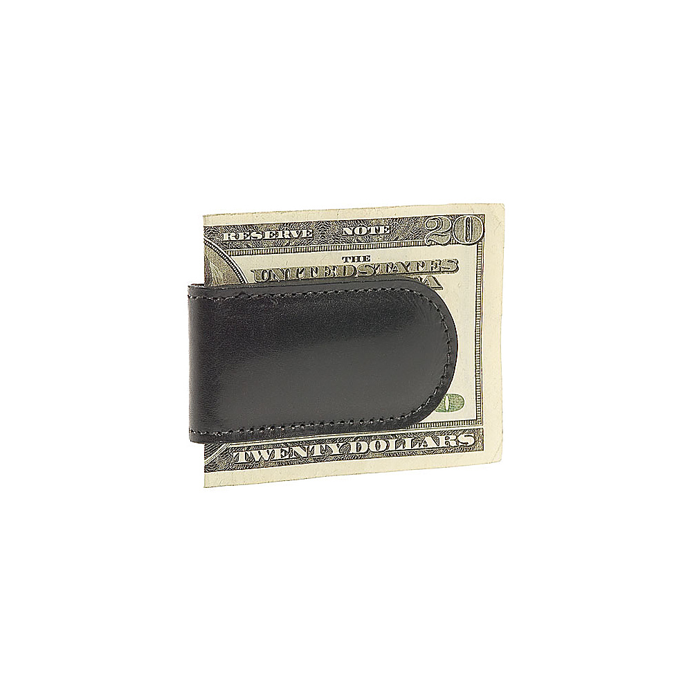 Bosca Old Leather Magnetic Money Clip - Black