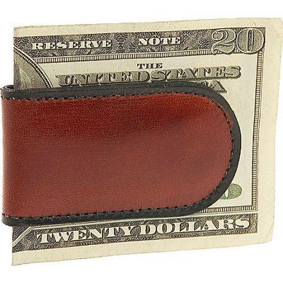 Bosca Old Leather Magnetic Money Clip - Cognac