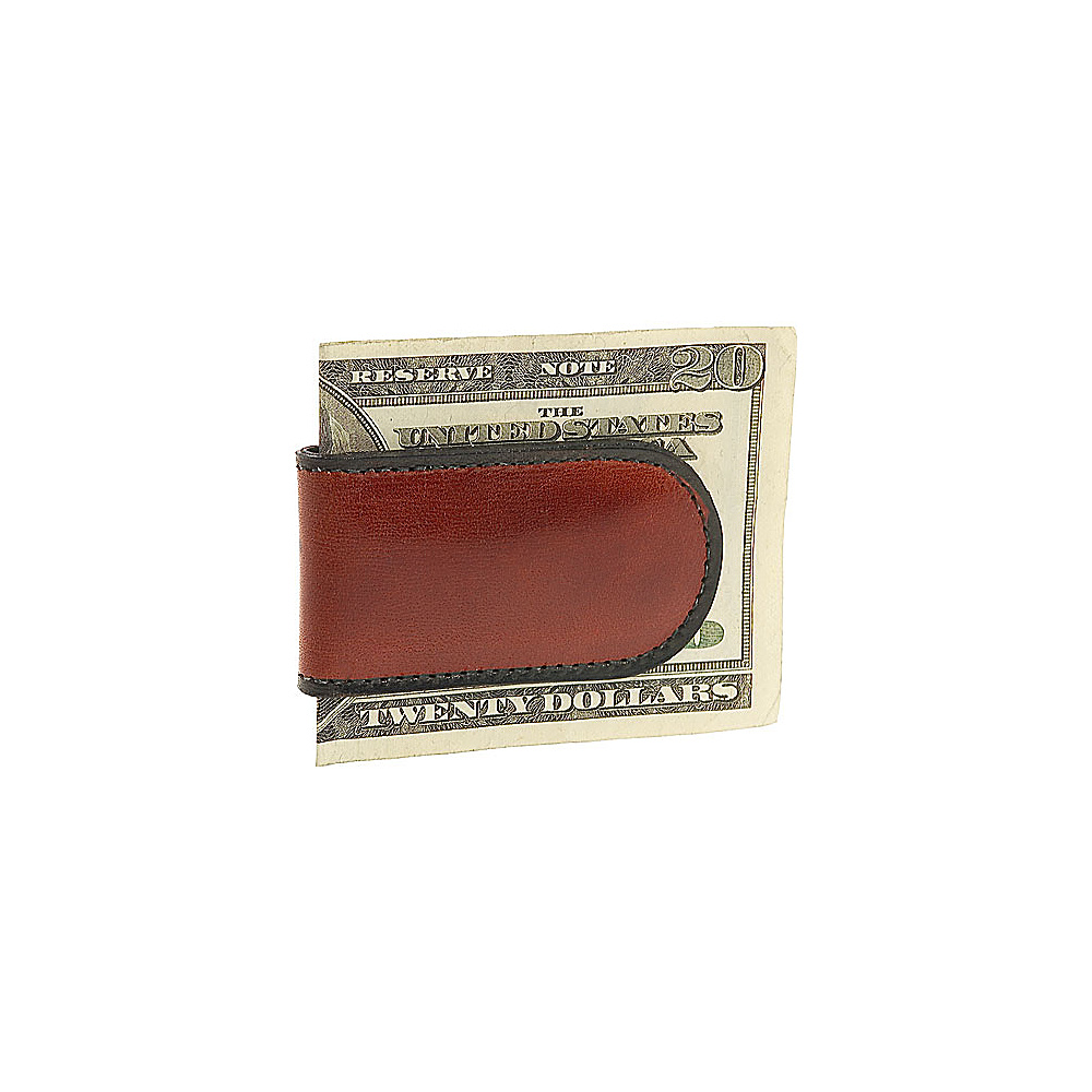 Bosca Old Leather Magnetic Money Clip Cognac
