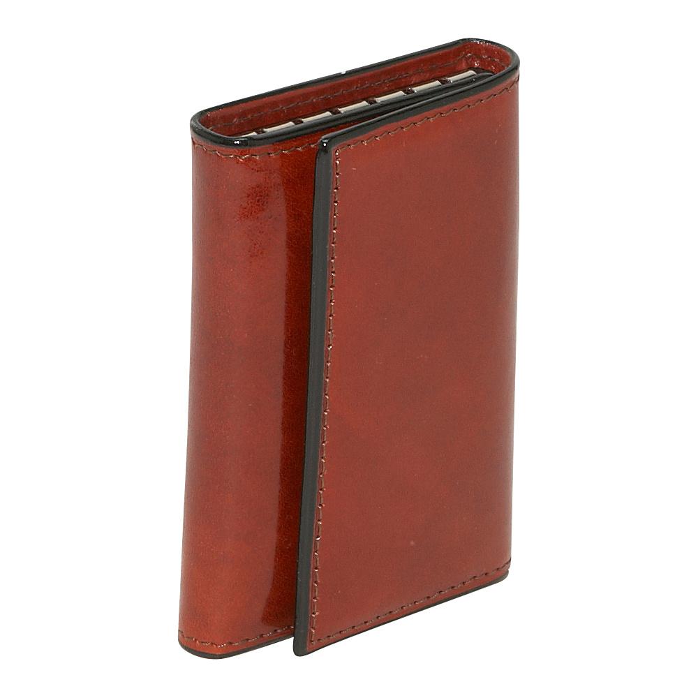Bosca Old Leather 6 Hook Keyfree Key Case - Cognac - Work Bags & Briefcases, Men's Wallets