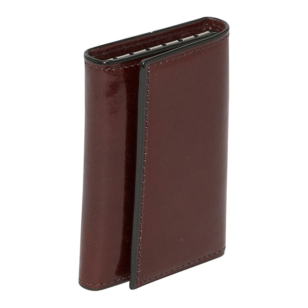 Bosca Old Leather 6 Hook Keyfree Key Case - Dark Brown - Work Bags & Briefcases, Men's Wallets