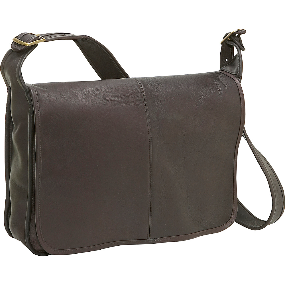 Le Donne Leather Classic Messenger - Caf - Work Bags & Briefcases, Messenger Bags