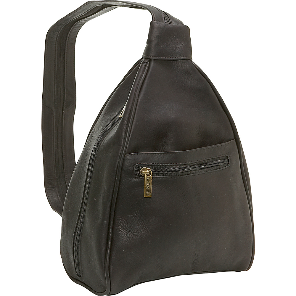 Le Donne Leather Womens Sling Back Pack - Caf - Handbags, Leather Handbags