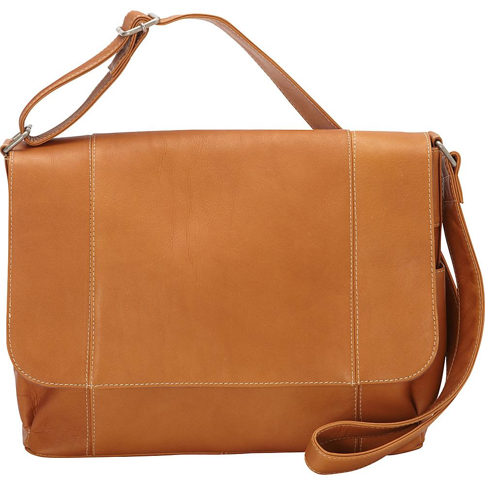 Le Donne Leather Flap Over Shoulder Bag - Tan - Handbags, Leather Handbags