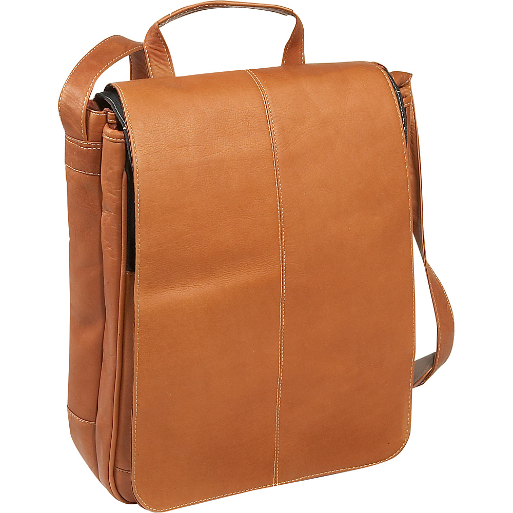 Le Donne Leather Computer Messenger - Tan - Work Bags & Briefcases, Messenger Bags