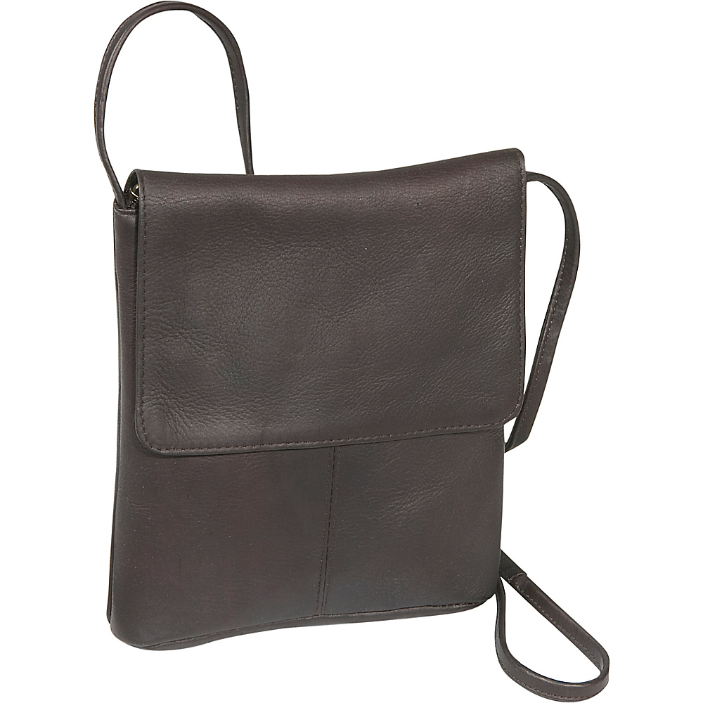 Le Donne Leather Flap Over Mini - Caf - Handbags, Leather Handbags