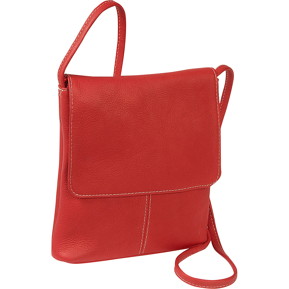 Le Donne Leather Flap Over Mini - Red - Handbags, Leather Handbags
