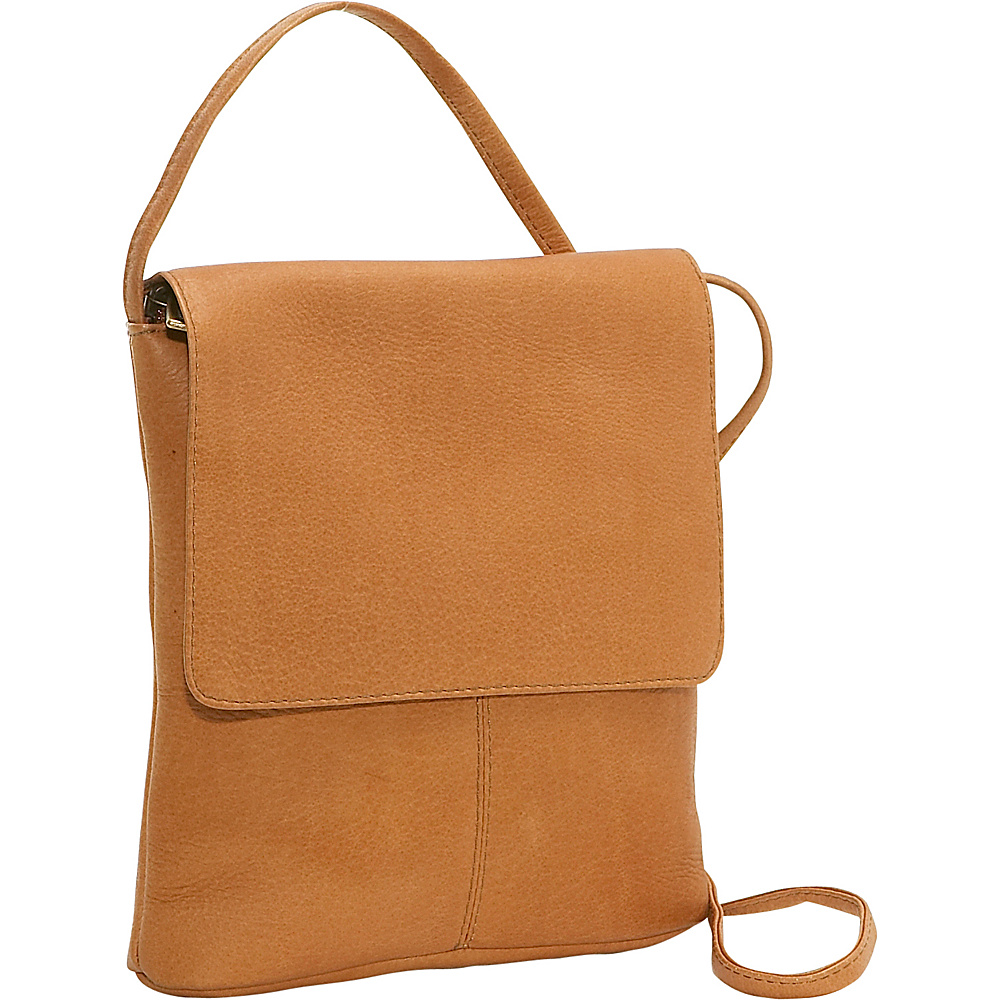 Le Donne Leather Flap Over Mini - Tan - Handbags, Leather Handbags