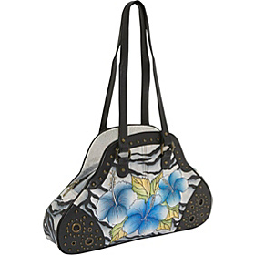 Medium Shopper: Collage Wild Hibiscus