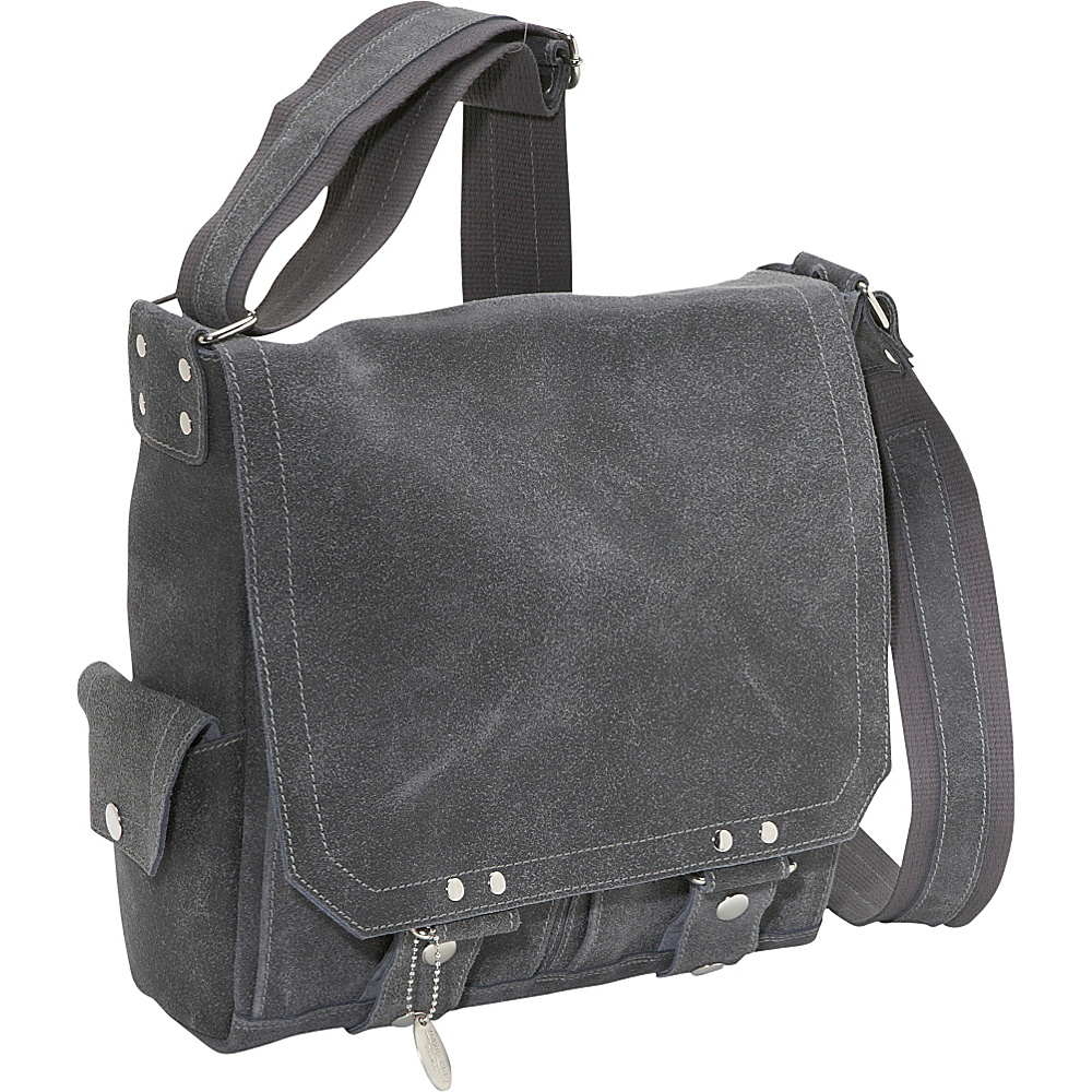 David King & Co. Distressed Leather Vertical Letter - Work Bags & Briefcases, Messenger Bags