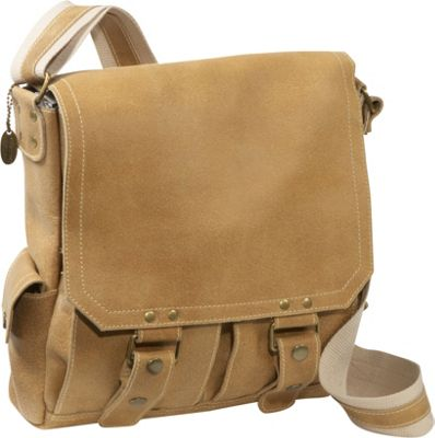 David King & Co. Distressed Leather Vertical Letter Size Messenger Distressed Tan - David King & Co. Messenger Bags