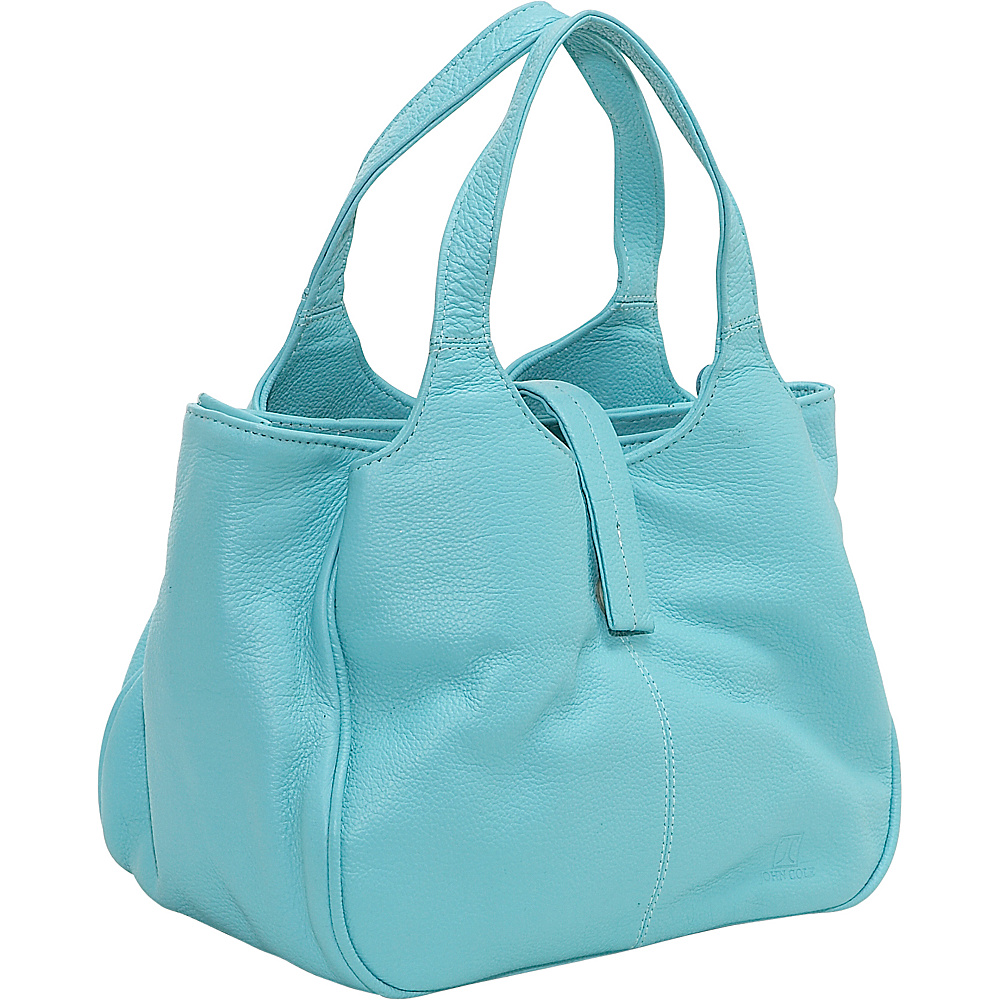 John Cole Kismet Triple Compartment Satchel Sky Blue