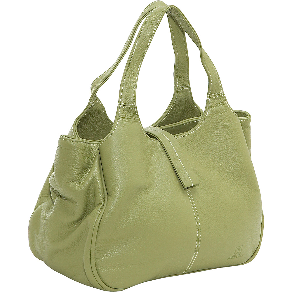 John Cole Kismet Triple Compartment Satchel Avocado