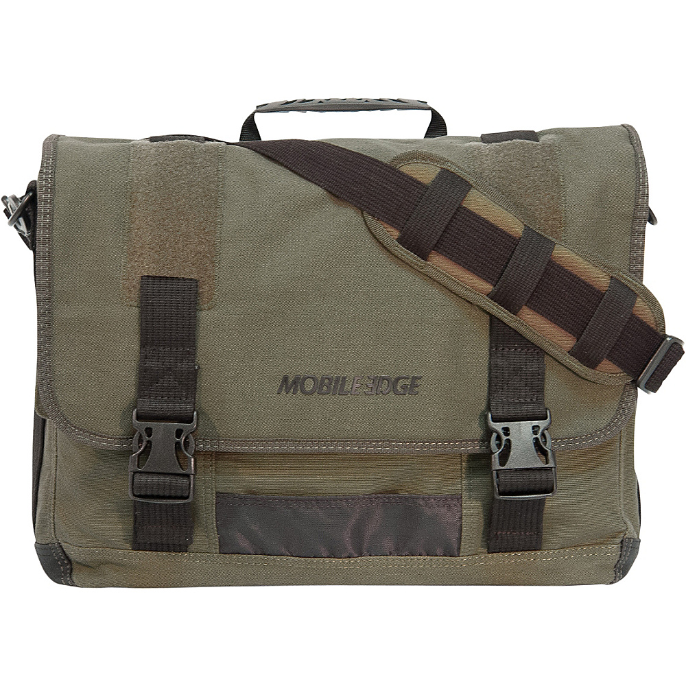 Mobile Edge ECO Friendly Canvas Messenger - 17.3 Olive - Mobile Edge Messenger Bags - Work Bags & Briefcases, Messenger Bags