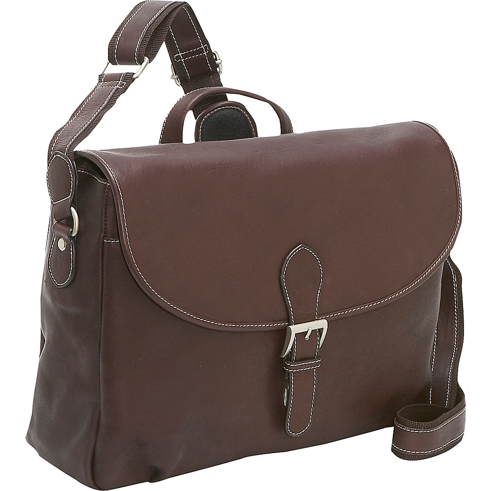 Bellino Leather Messenger - Brown - Work Bags & Briefcases, Messenger Bags
