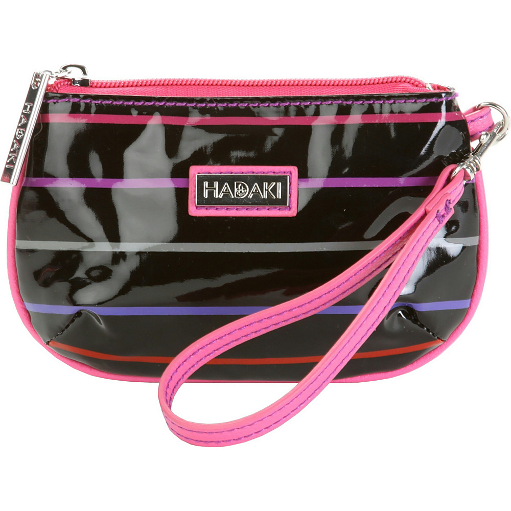 Hadaki ID Wristlet Pencil Stripes Berry