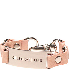 Message Bracelet - Blush Leather/celebrate Life Blush