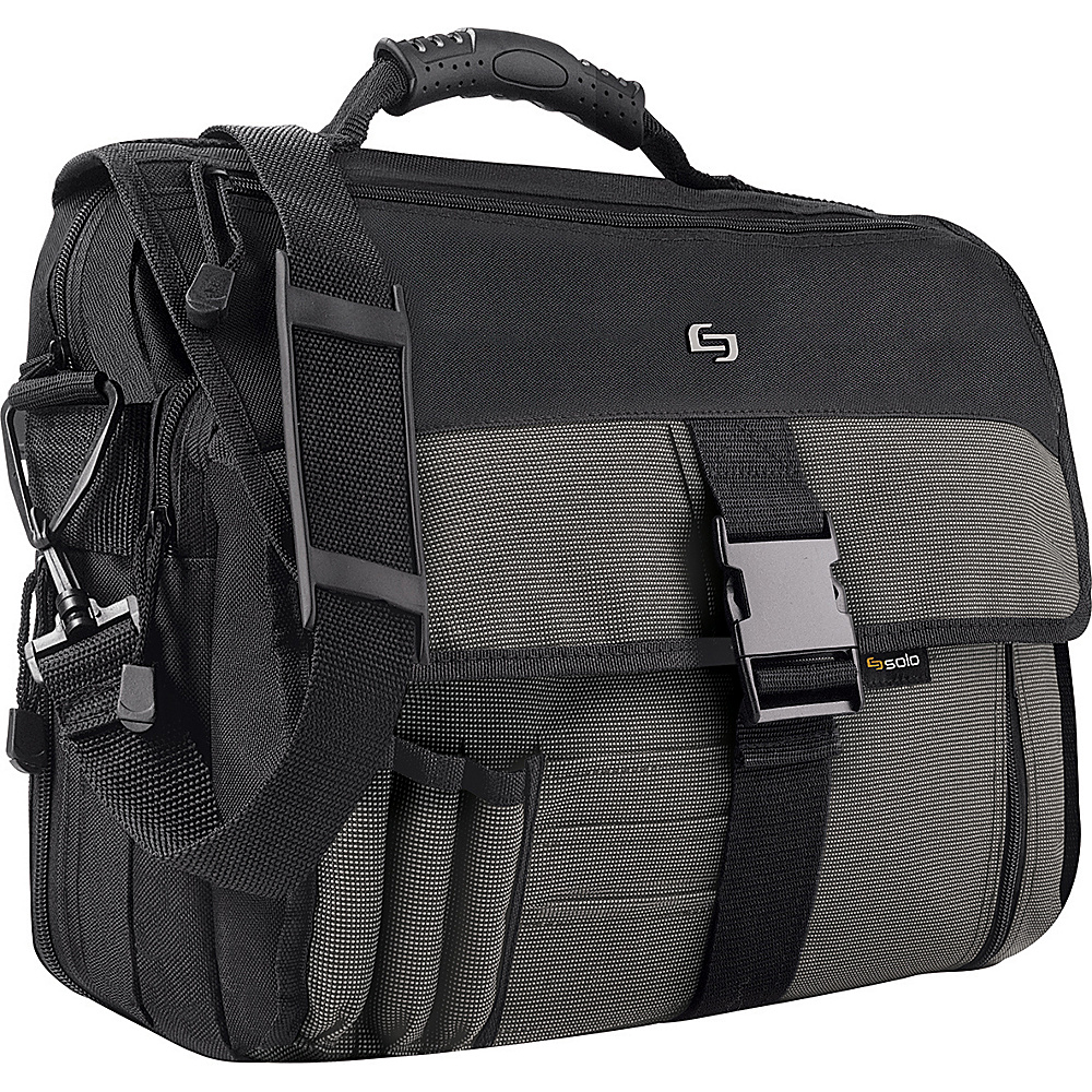 SOLO Expandable Messenger Bag Charcoal Black
