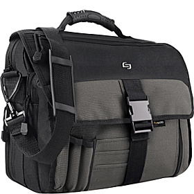 Expandable  Messenger Bag Charcoal/Black