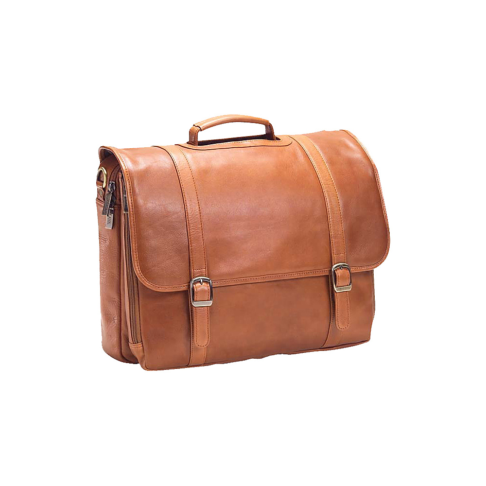 Clava Executive Laptop Briefcase - Tuscan Tan